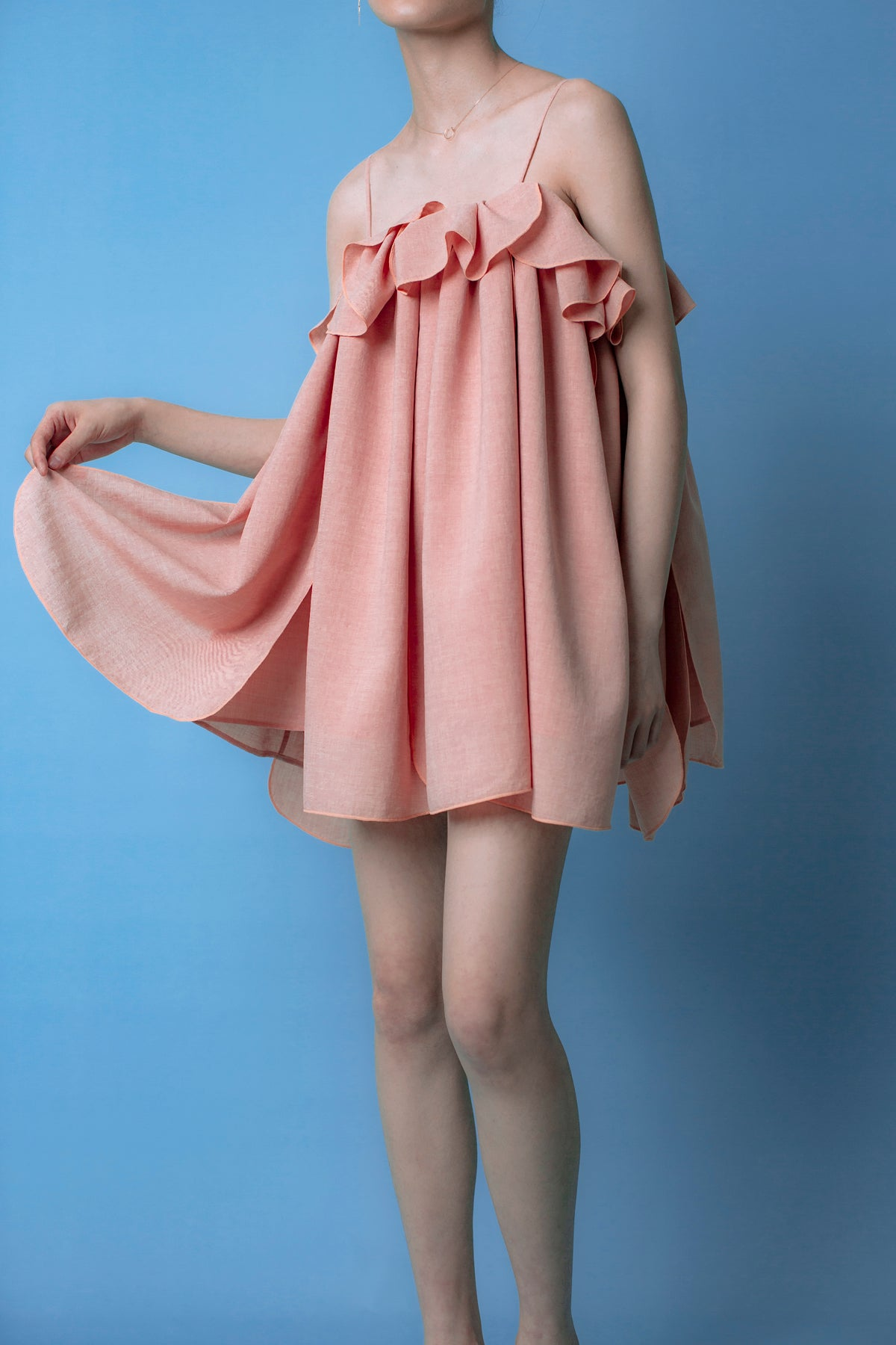Villea Dress in peach
