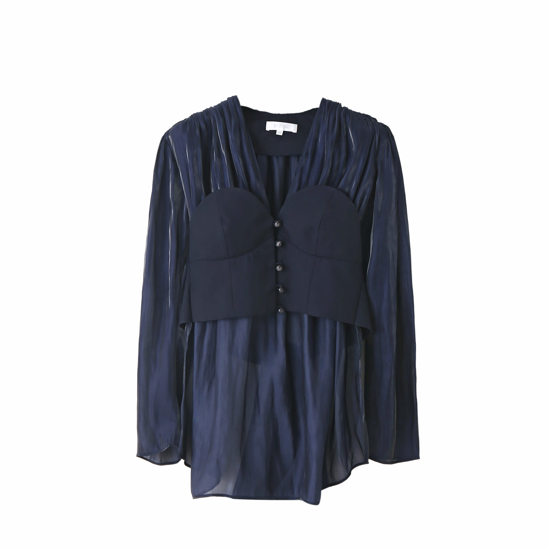 Winifred Corset Top in Navy
