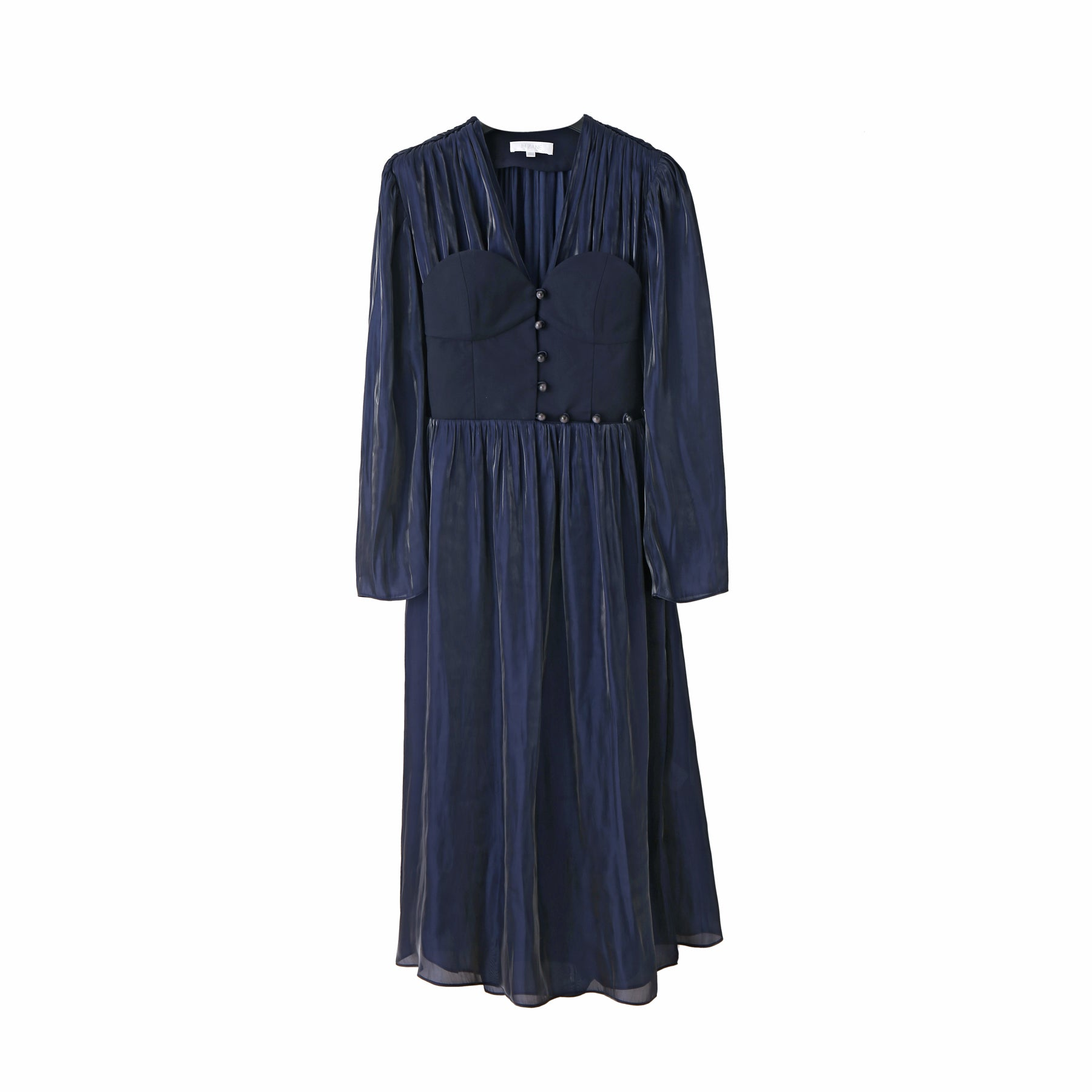 Winifred Corset Dress in Navy