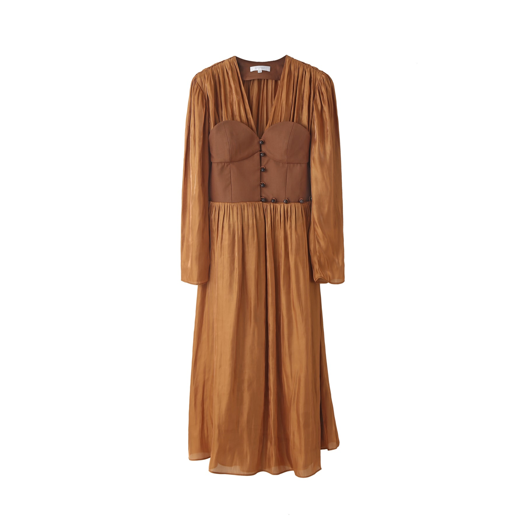 Winifred Corset Dress in Copper
