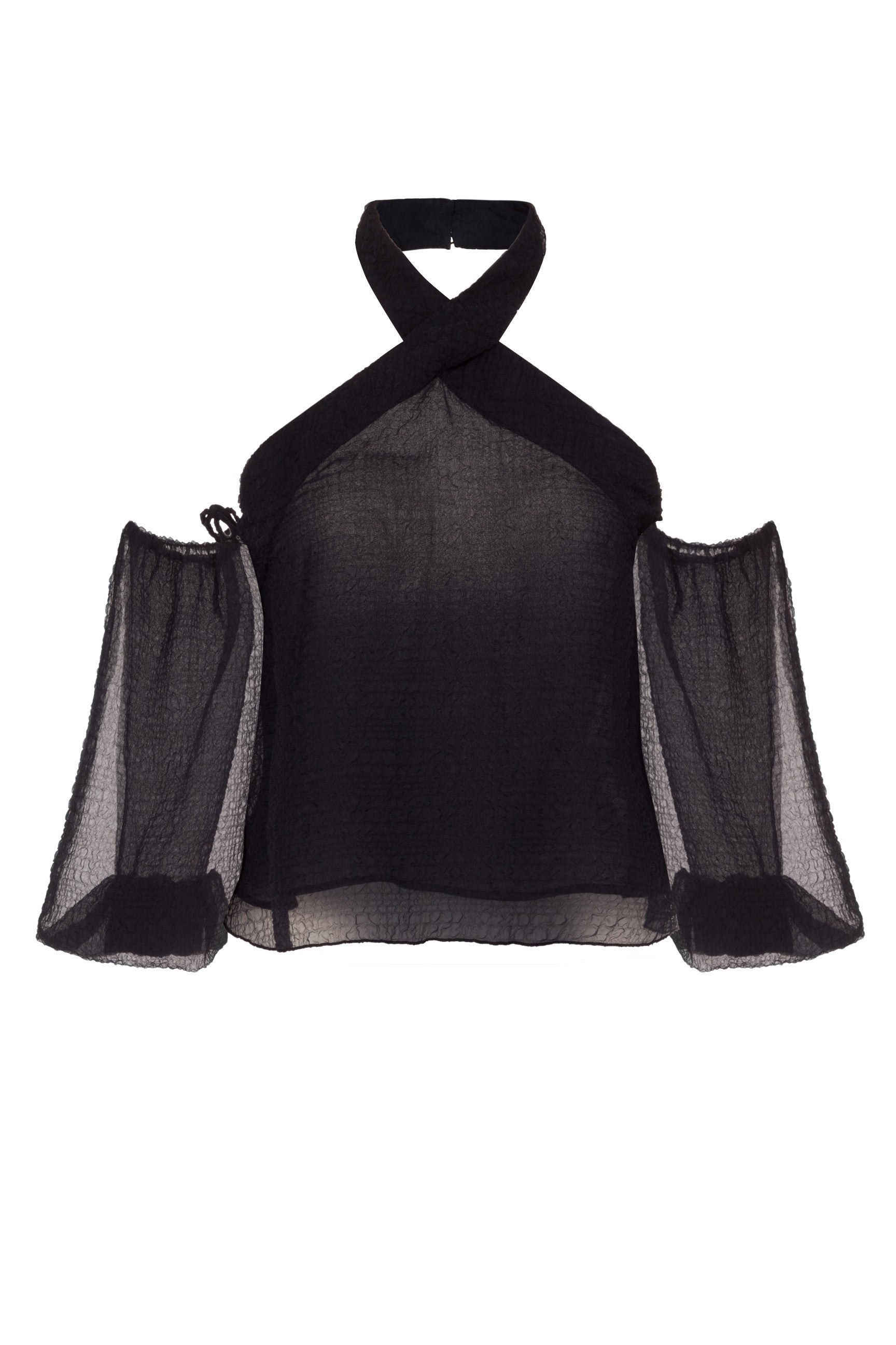 Black Halter Neck Jelly Top