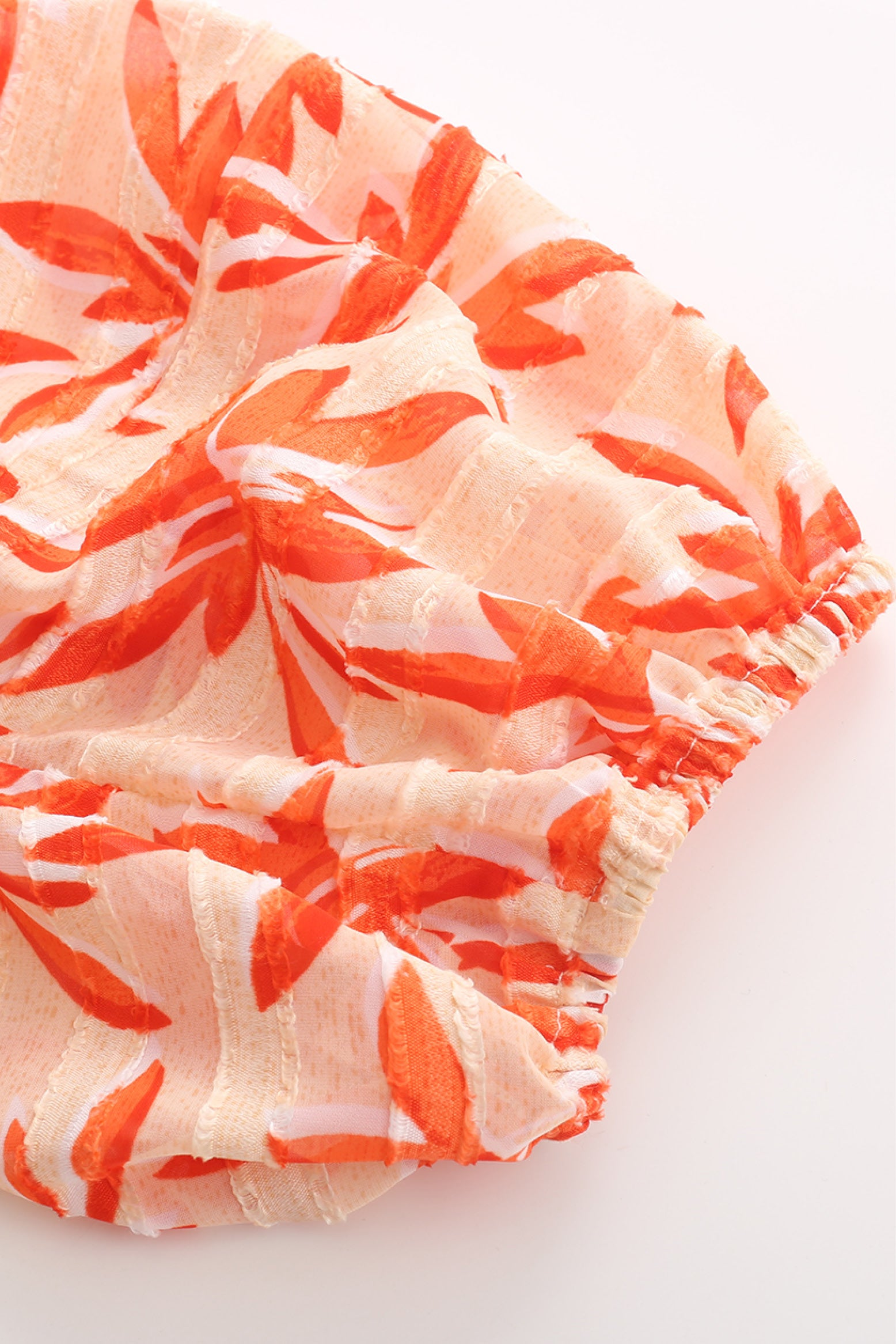 Baby Pina Dress in Orange Print