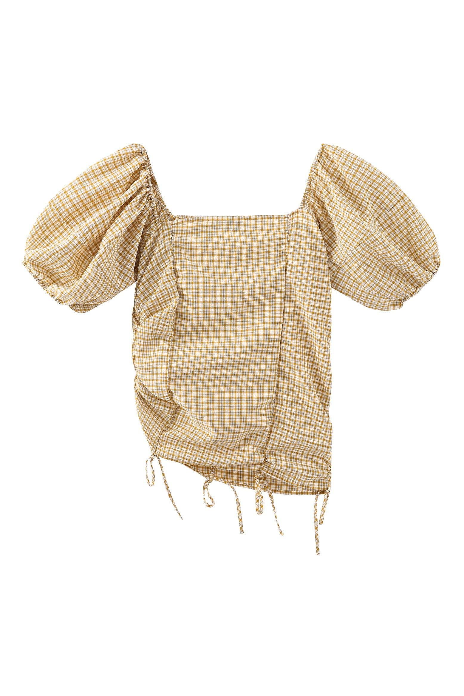 Baby Pina top in yellow gingham