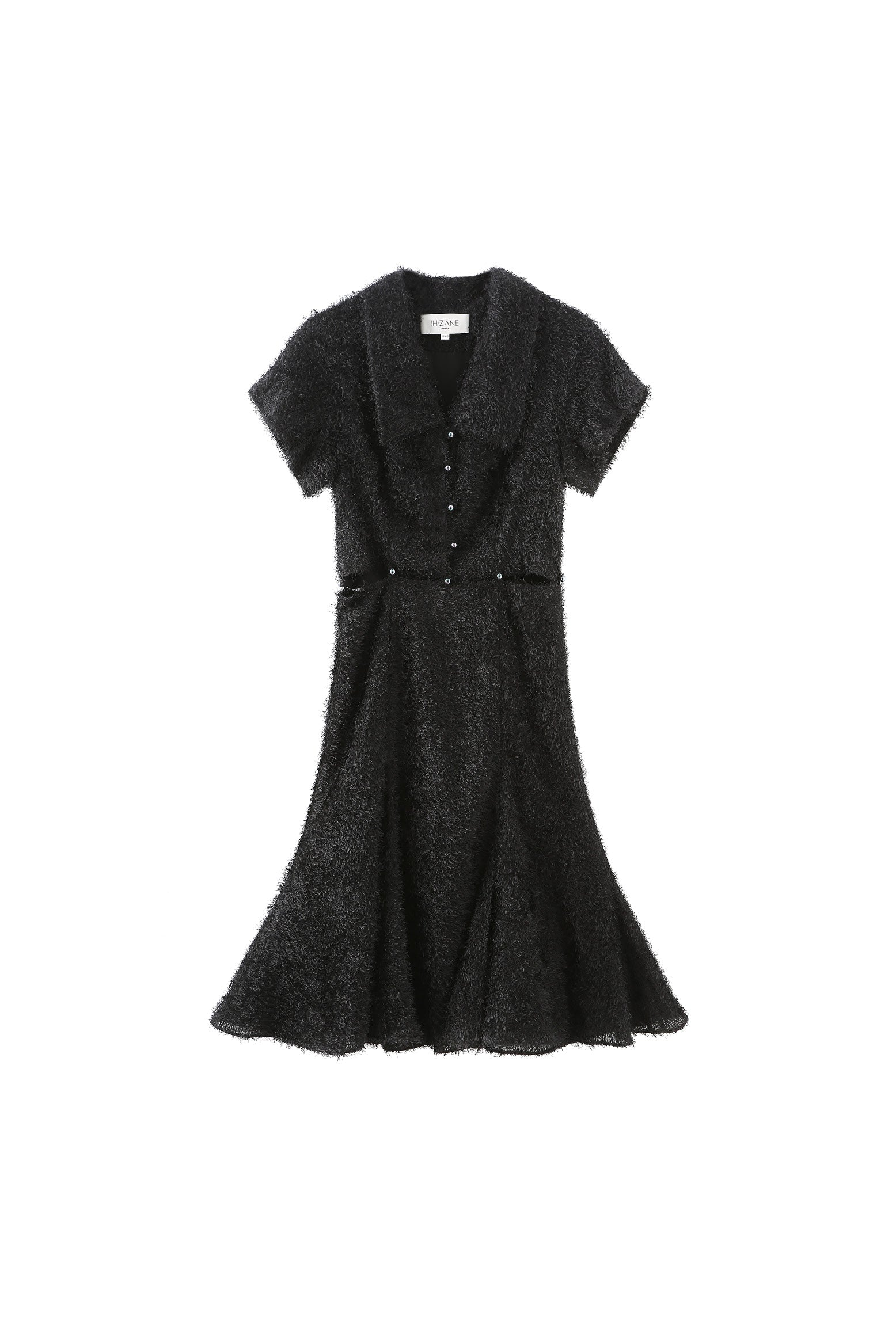 Debbie detachable dress in raven
