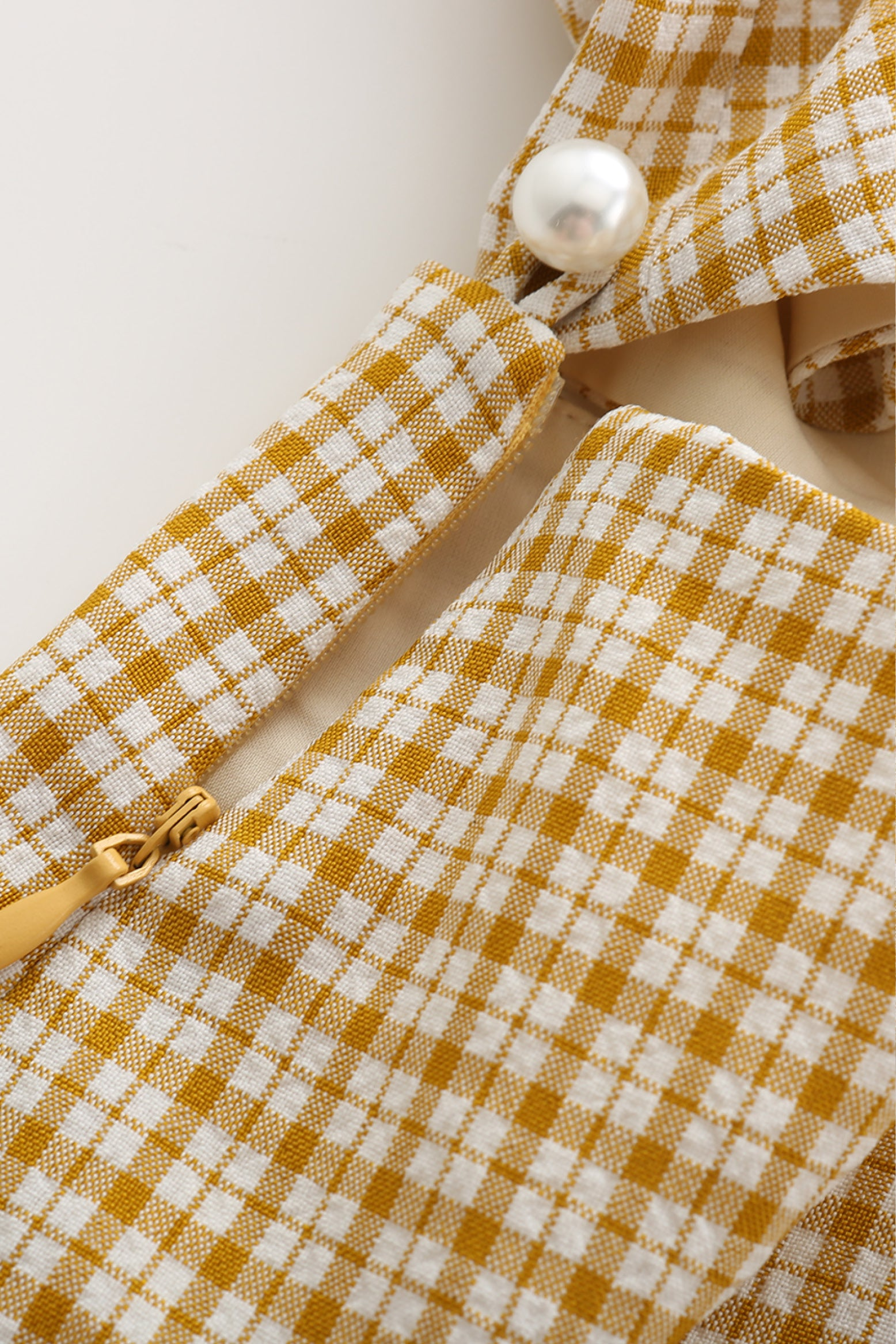 Debbie Detachable Dress in Yellow Gingham