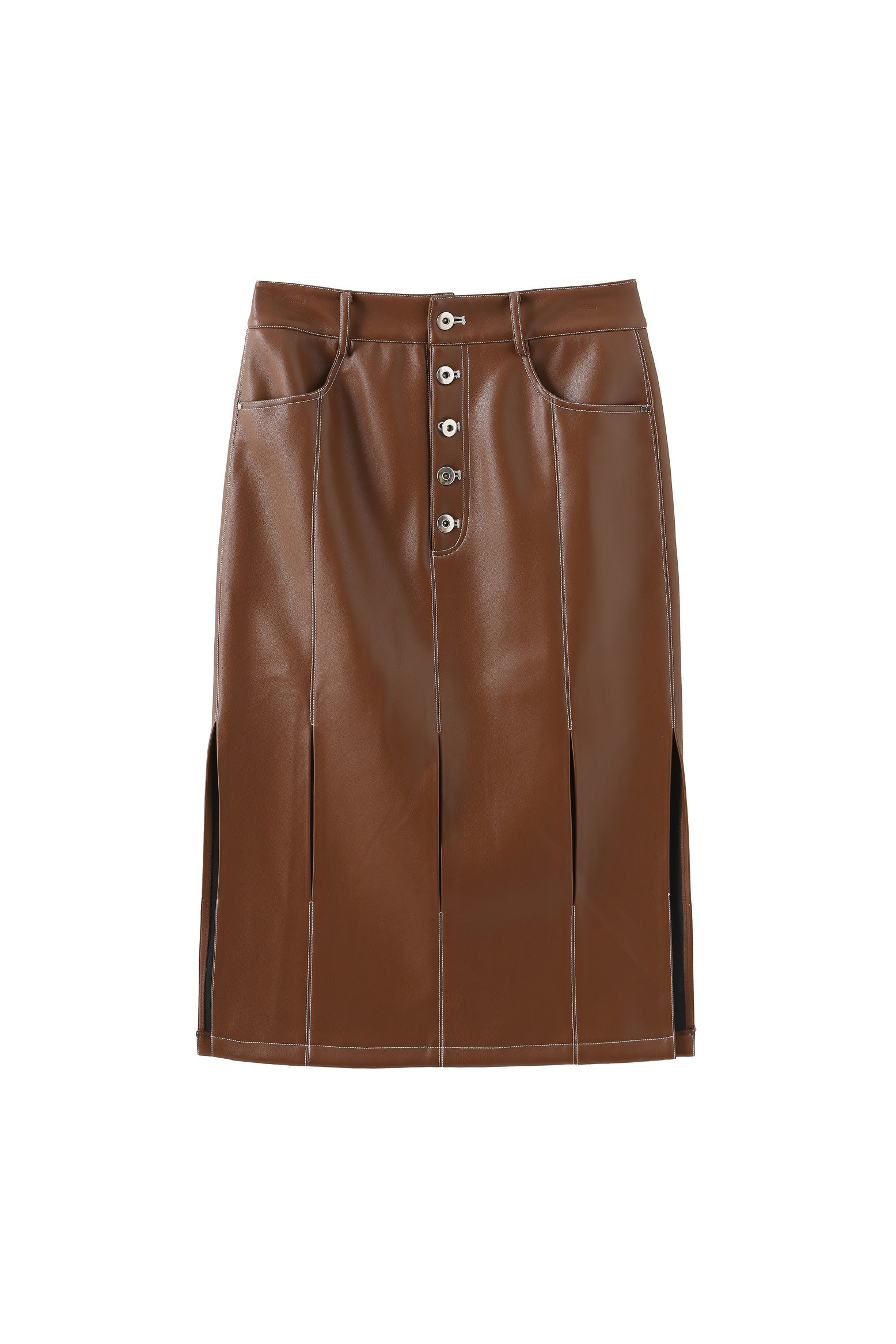 Jagger Leather-free skirt in Nutella