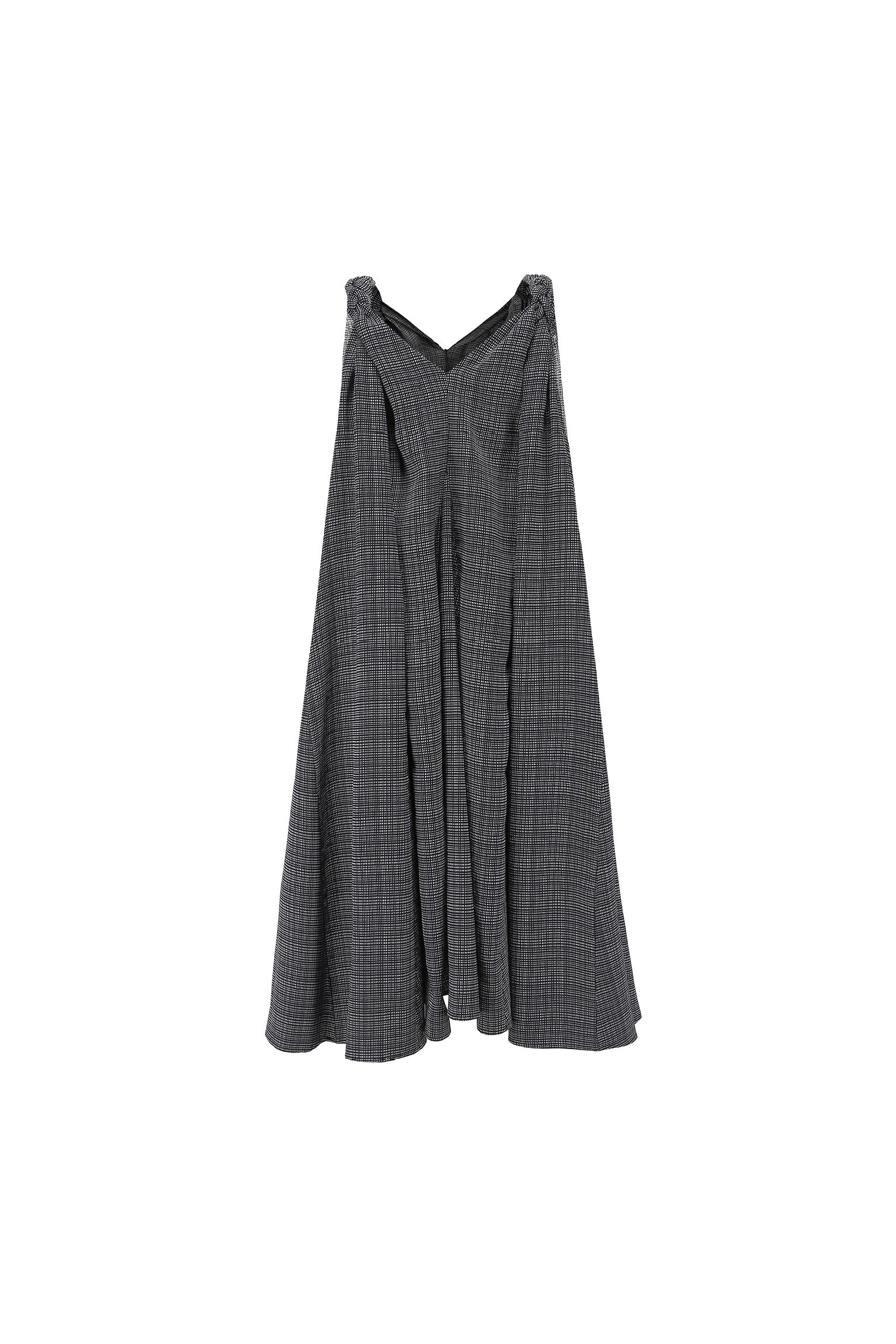 Gloria Parachute dress in black grid