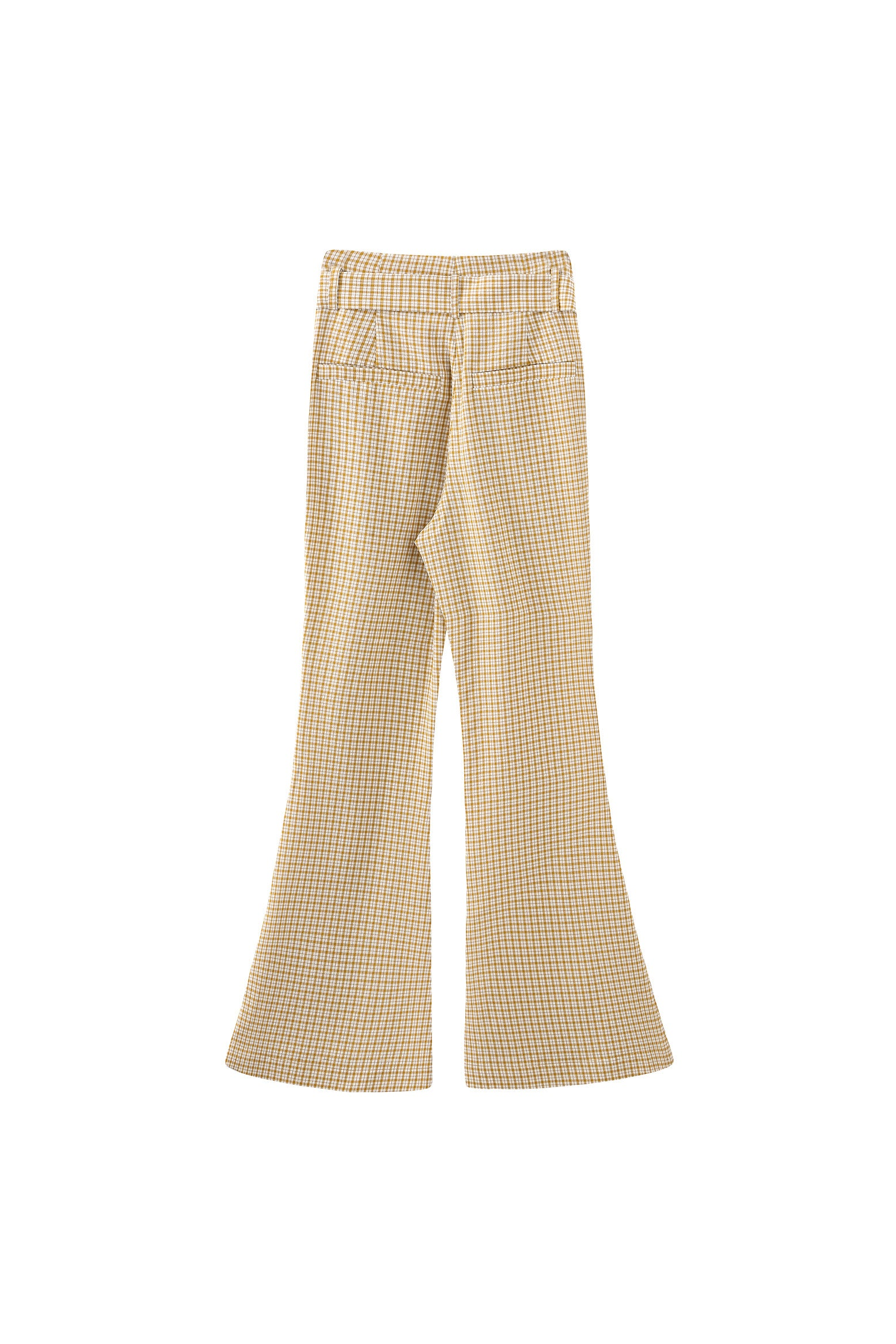 Patty Flare Trousers in Yellow Gingham
