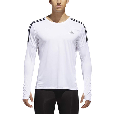 adidas Men's 3-stripes Long Sleeve Run Tee