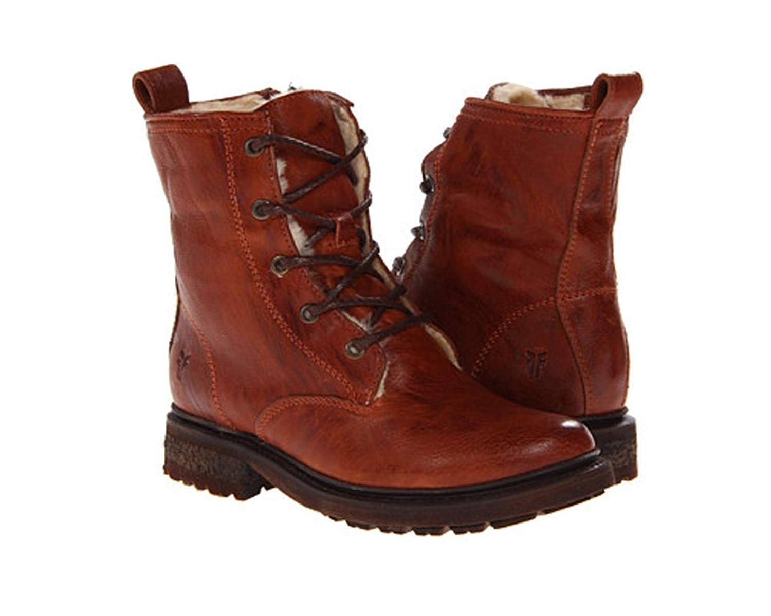 Valerie Shearling Lace-Up Boot Shoes