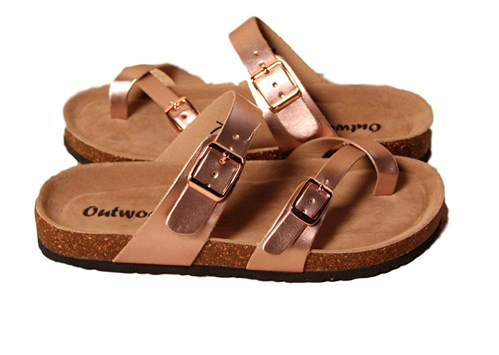 a71bbafcd90a Outwoods Outwoods Women s Bork-30 Slide On Toe Loop Sandals Shoes ...