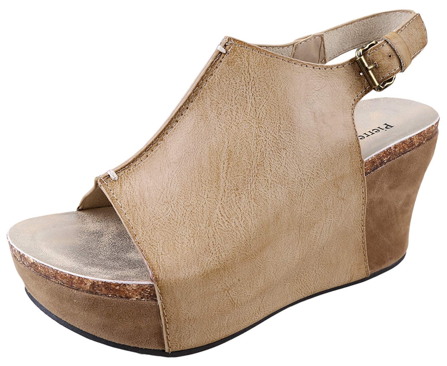 Pierre Dumas Hester-14 Women's Platform Wedge Open Toe Sandals