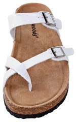 Outwoods Women's Bork-30 Slide On Toe Loop Sandals