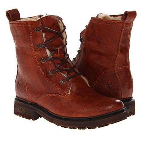 FRYE Women's Valerie Shearling Lace-Up Boot