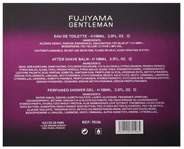 FUJIYAMA GENTLEMAN by Succes De Paris 3 PC Men Gift Set - South Beach Perfumes