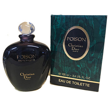 Poison by Christian Dior EDT 3.4 OZ SPLASH Ladies (Vintage) - SouthBeachPerfumes
