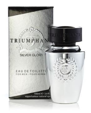 TRIUMPHANT SILVER GLORY by Nu Parfums EDT 3.4 OZ SP Men - South Beach Perfumes