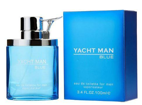YACHT MAN BLUE by Myrurgia EDT 3.4 OZ SP Men - South Beach Perfumes