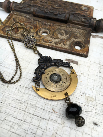 Steampunk Necklace - Watch Parts, Vintage, Gothic Jewelry