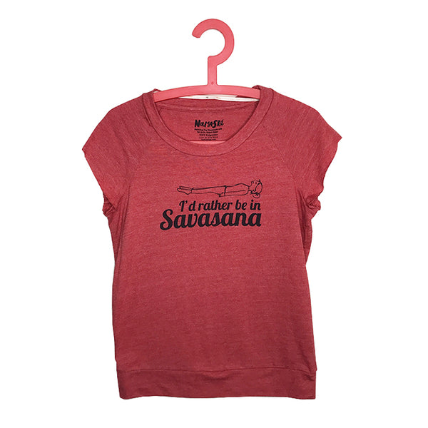 I RATHER BE IN SAVASANA~ SLEEVELESS RECYCLED PULLOVER HOODIE