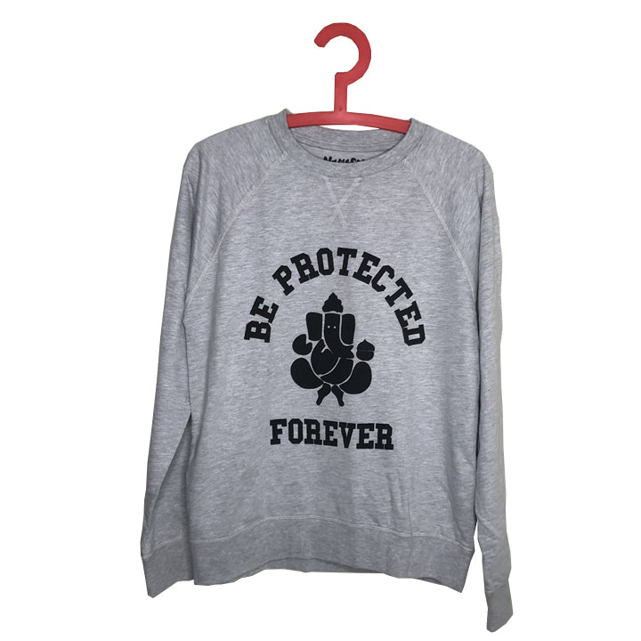BE PROTECTED ~ HEATHER GREY COTTON TERRY SWEATSHIRT (Only Small)