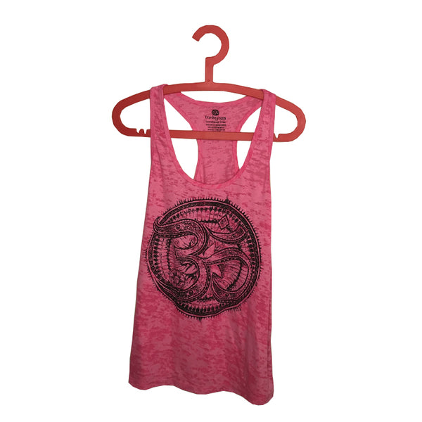 TRIBAL AUM ~ RED BURNOUT RACER TANK