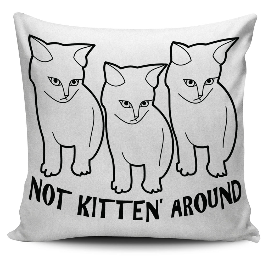 Kitten Pillow White