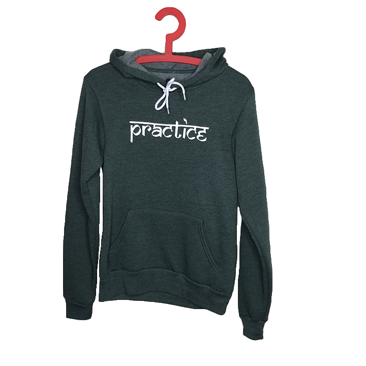 PRACTICE ~ FOREST GREEN WOMEN FLEECE TRIBLEND HOODIE