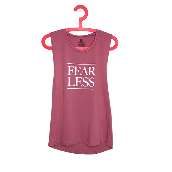 FEAR LESS ~ ROSE COTTON MUSCLE TANK