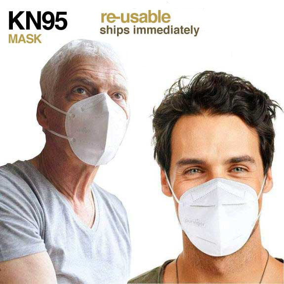 20-PACK ~ KN95 PROTECTIVE RESPIRATOR 4-PLY ~ FILTERS AIR 95% (SHIPS IMMEDIATELY)