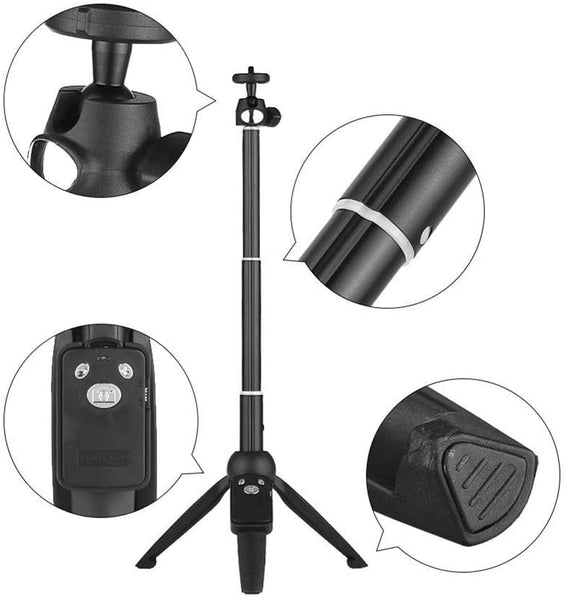 Super Sturdy Multifunction Selfie Stick Tripod with Bluetooth Remote Shutter
