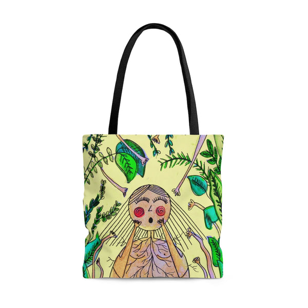GROW & GROUND ALL OVER PRINT TOTE BAG ~  ORIGINAL ARTWORK BY @MySecretLab