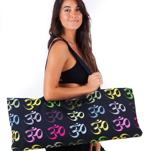 LIMITED EDITION OM COLORS ~ WATERPROOF RECYCLED YOGA TOTE BAG  32X10