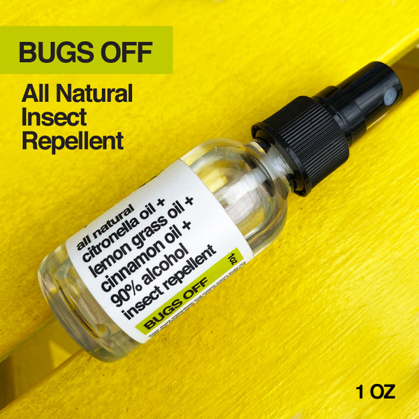 ALL NATURAL 90% ALCOHOL + CITRONELLA + LEMON GRASS + CINNAMON OIL INSECT REPELLENT SPRAY 1 OZ (SHIPS IMMEDIATELY)
