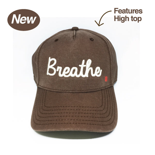 BREATHE HIGH TOP VELCRO STRAP BACK COTTON TWILL TRUCKER