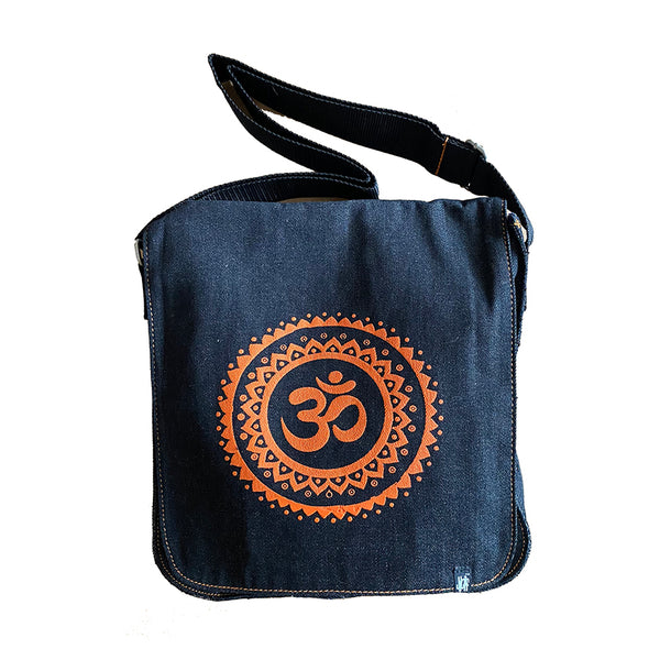 SUN OM ORANGE ~ DENIM SHOULDER  BAG