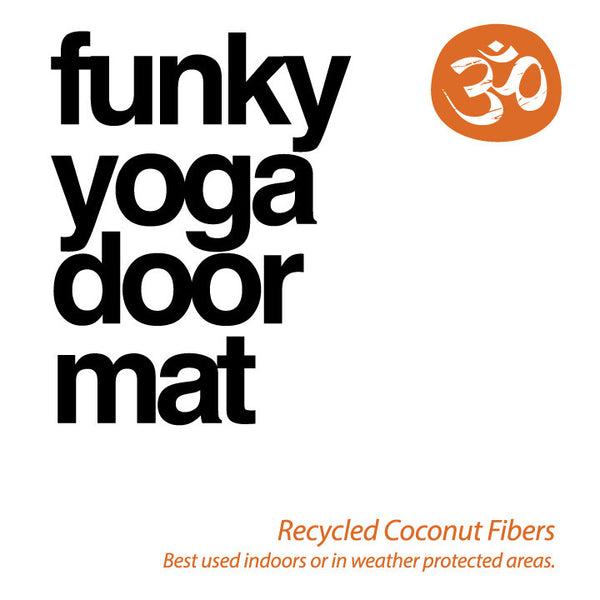 Raise Your Vibration Recycled Printed Door Mat FY252-DM-NT - Funky Yoga