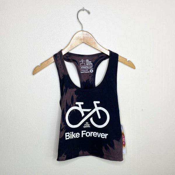 BIKE FOREVER ~ VINTAGE BLACK COTTON CROP RACER TANK
