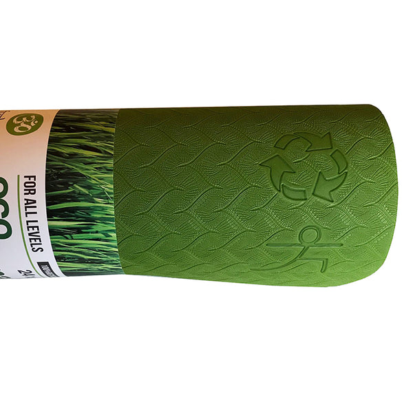 WARRIOR ECO YOGA MAT JUNGLE GREEN 1/4 Inch 24x72