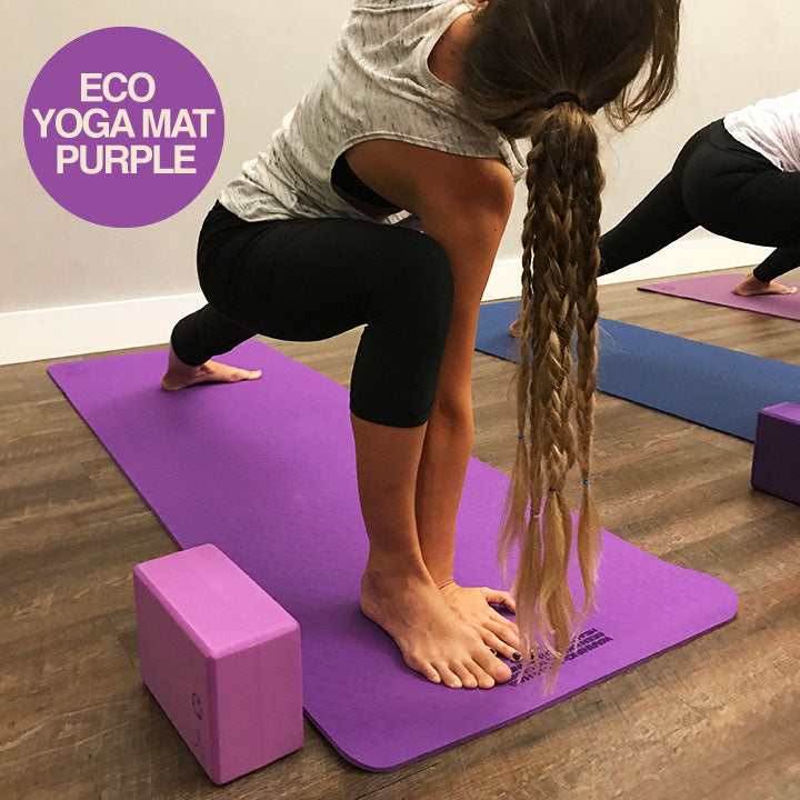 WARRIOR ECO YOGA MAT ELECTRIC PURPLE 1/4 Inch 24x72