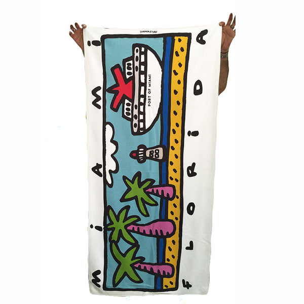 MIAMI FLORIDA SUBLIMATED TOWEL