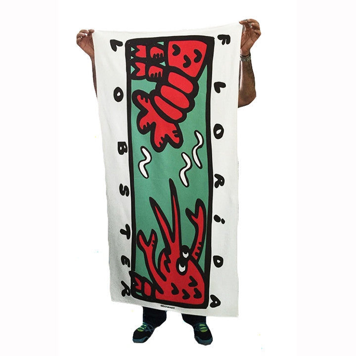 FLORIDA LOBSTER SUBLIMATED TOWEL - Funky Yoga  Gear & Accessories