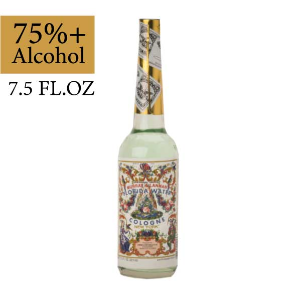 75% ALCOHOL  FLORIDA WATER 7.5 OZ          FOR PHYSICAL & SPIRITUAL CLEANSING - FOR ALTAR & MEDITATION