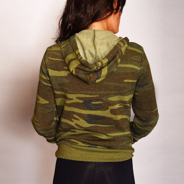 BREATHE CAMO FLEECE TRIBLEND HOODIE - Funky Yoga  Gear & Accessories