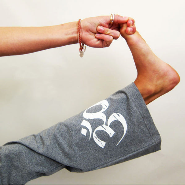 CLASSIC OM / LOTUS OM ~ HEATHER GREY COTTON SPANDEX PANT (Only Medium)