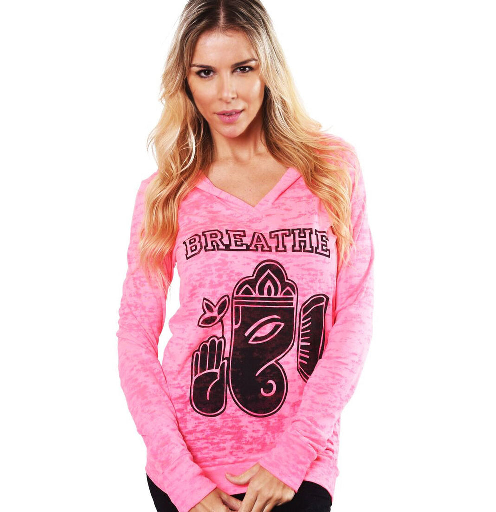 BREATHE GANESH BURNOUT HOODIE - Funky Yoga  Gear & Accessories