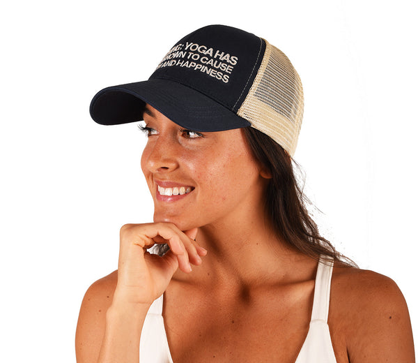 WARNING NAVY ECO UNISEX TRUCKER MESH CAP