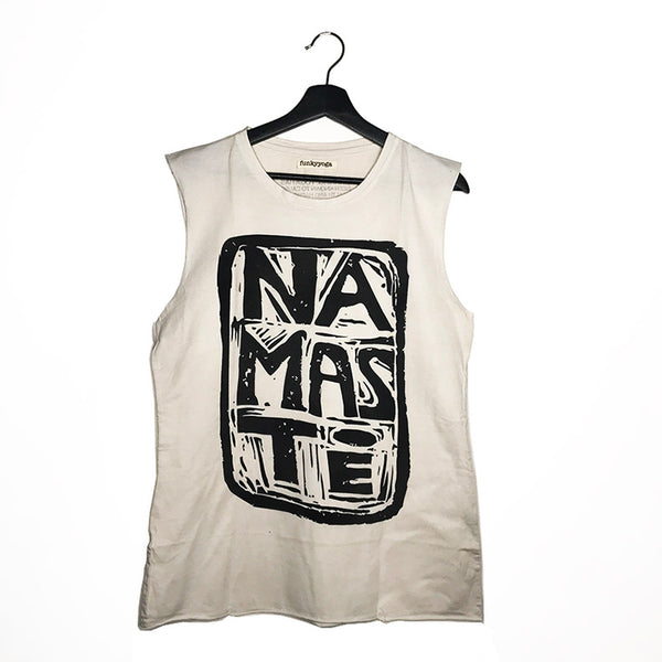 NAMASTE ~ MEN PIGMENT DYE NATURAL MUSCLE TANK CLOSEOUT