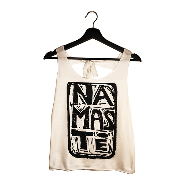 NAMASTE VINTAGE ~ NATURAL TIE BACK OPEN TOP