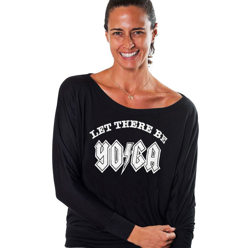LET THERE BE YOGA ~ BLACK FLOWY LONG SLEEVE
